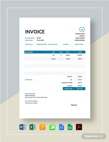 Where Can I Find A Free Sample Invoice Template Quora