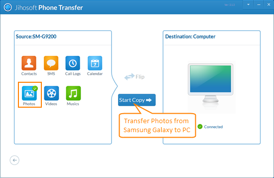 Galaxy s5 transfer: transfer/backup galaxy s5 contacts/sms/music.