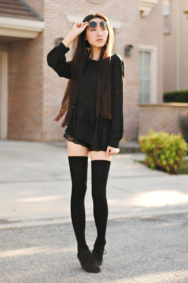 d4b142facb6 What should you wear with thigh high stockings  - Quora