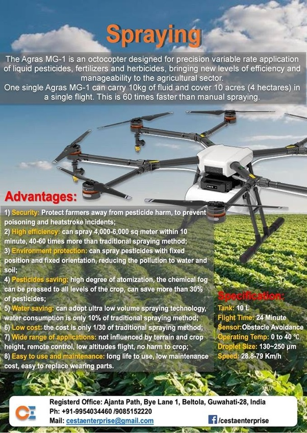 What type of drones are used for agriculture? Do any drone companies