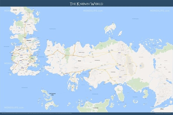 Is the world of game of thrones flat some part of the map extends now the fartherest east the books have been to my recollection has been qarth its roughly halfway across essos and the fartherest north anyone has gumiabroncs Choice Image