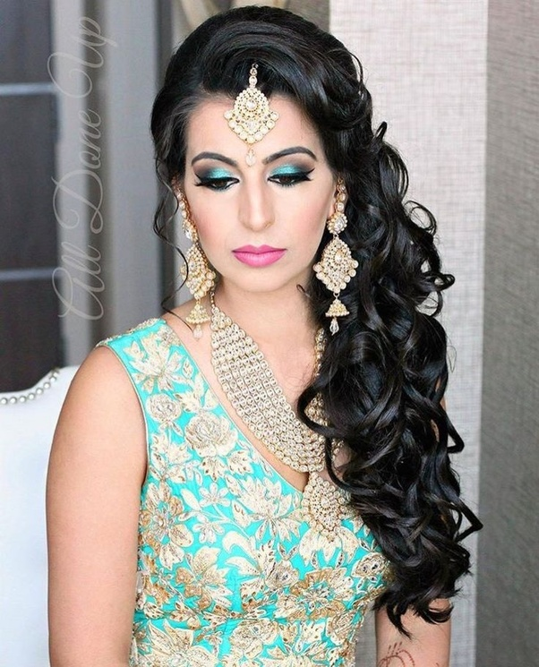 ... can curl your hairs and if your hair is long then tie up them with proper braid or bun hairstyle it gives you awesome look with lehenga choli and long ...