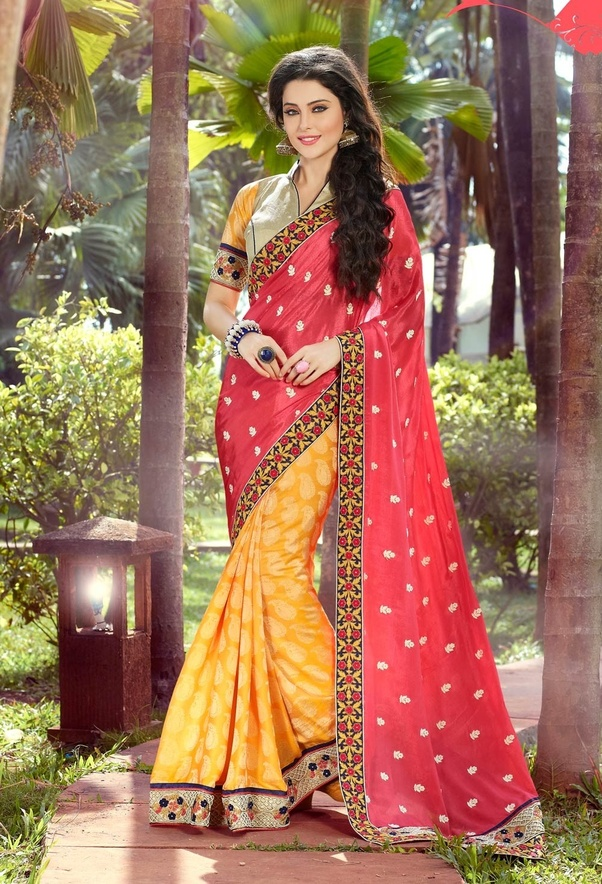 How Look Red Saree With Yellow Blouse Quora