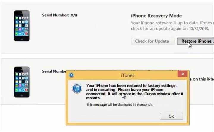 How to restore an ipad that is linked to an apple id