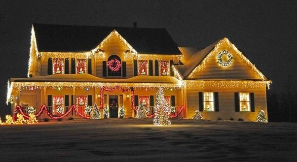 endeavor this fantastic blend of white christmas lights and bubbly shading lights for a stunning point of view of your outside home