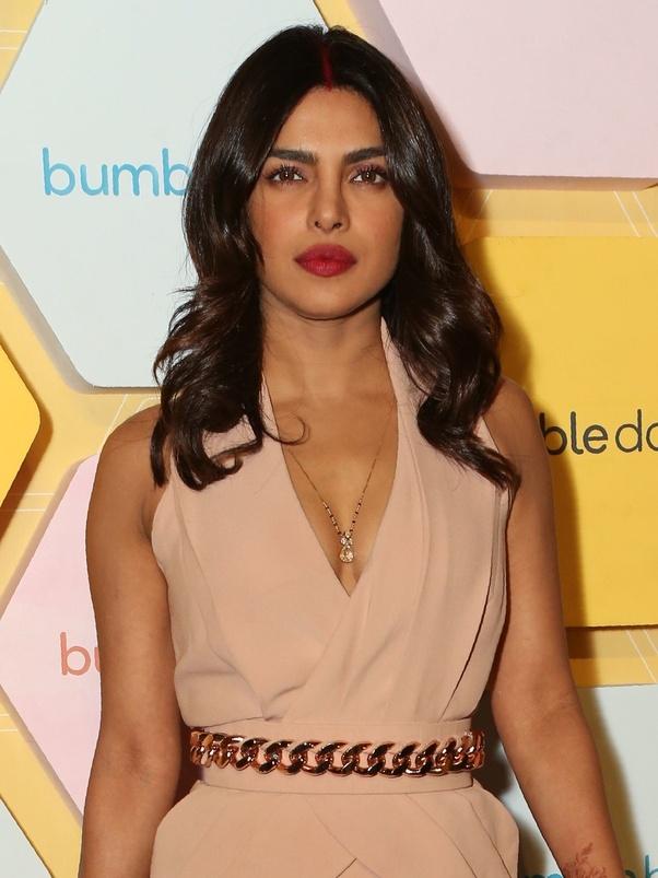 Priyanka Chopra wears a bold Chest Cutouts pastel blue