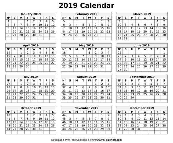 How to get a printed or printable calendar for 2019 - Quora