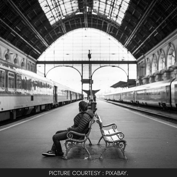 You are traveling alone by a train which has got delayed by