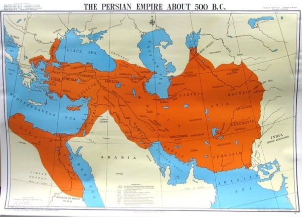 How large was the persian empire at its height quora this map shows the persian empire at 500 bc it was also the first empire to span over three continents as it covered parts of asia europe and africa gumiabroncs Choice Image