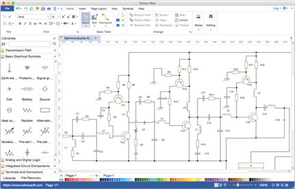 Edraw circuit diagram software offers you a fast effective and intelligent platform that enables everyone even novices to create professional looking ...