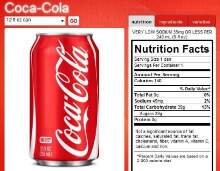 Pepsi have fewer calories than Coke