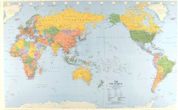 Who created the map placing america on the west why didnt they put by far the best projection that you can get however will always be a globe then everywhere is central not to mention accurately scaled gumiabroncs Images