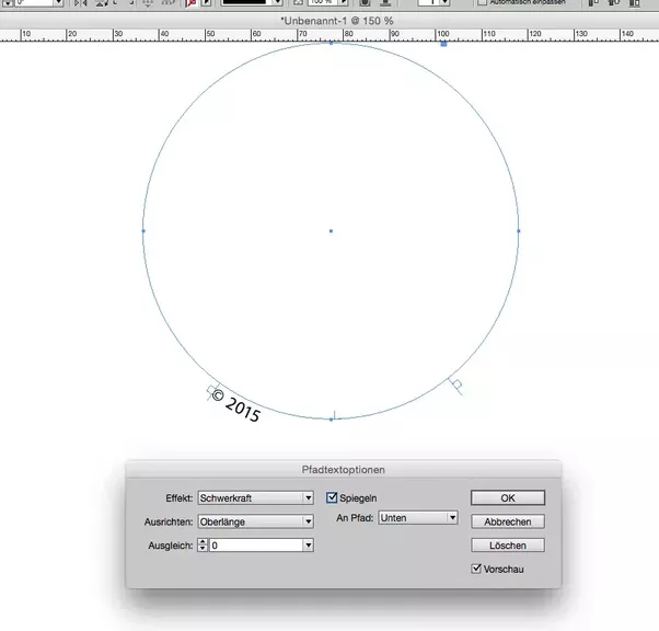 how to draw a circle in indesign