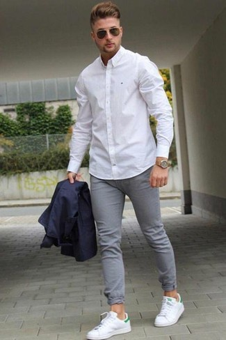 Do light grey jeans go well with a white shirt? Quora