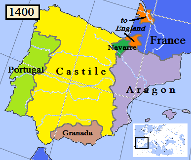 What role did the spanish castile aragon navarra catalonia etc image 1 map of spain in 1400ad gumiabroncs Images