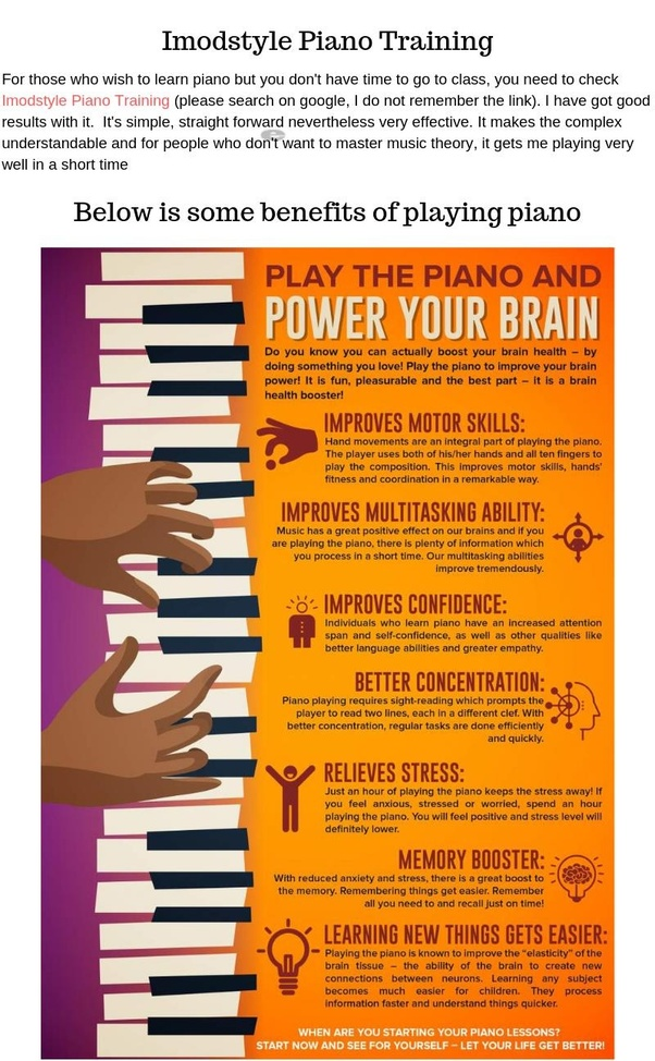 How many years of dedicated piano lessons and practice ...