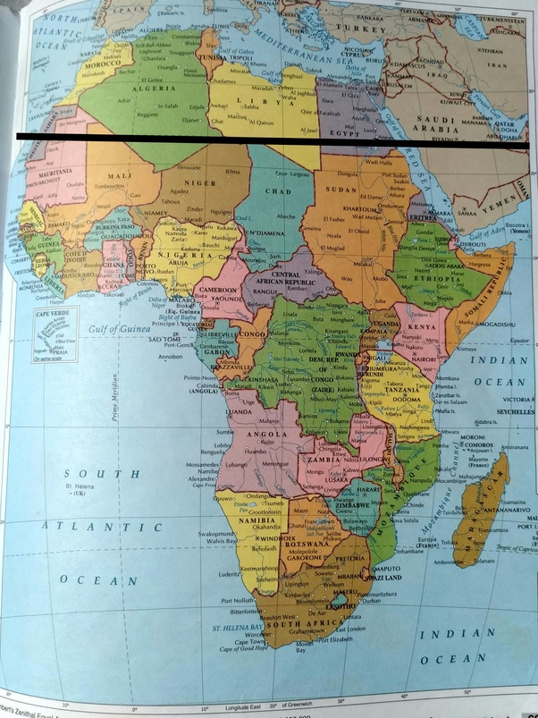 Tropic Of Capricorn On World Map.What Are The Countries In Africa That The Tropic Of Cancer Passes