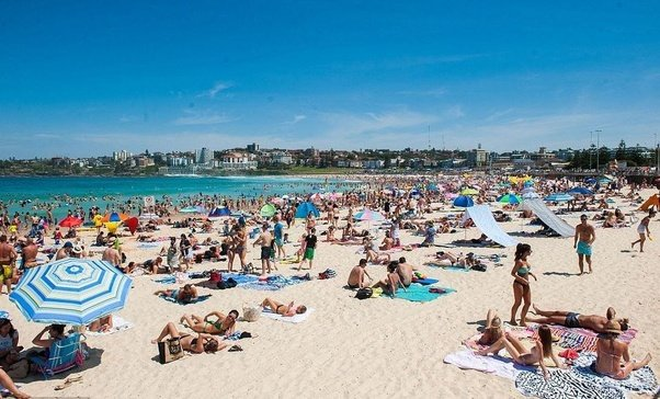 why was it illegal to swim in australia at the beaches during the