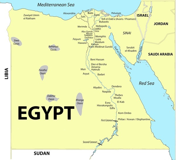 Natural Resources Of Ancient Egypt Map