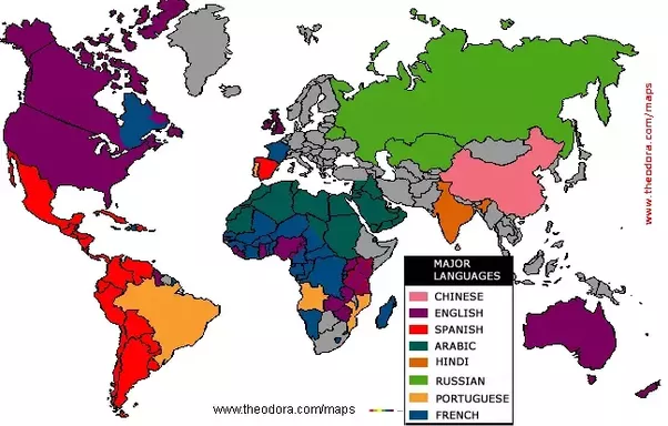 As A Person With English As My First Language What Would Be The - English official language world map