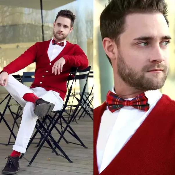 What Color Ties Go Well With A Red Sweater And White Dress