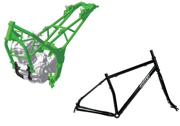 Which type of motorcycle frame is stronger, a diamond frame or a ...