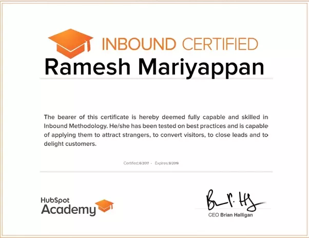 How much time should I set aside to take the Inbound Certification ...