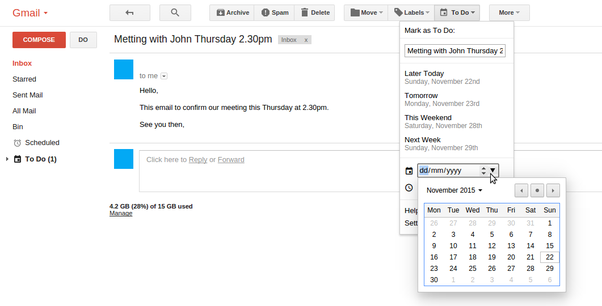 how to send reminder in gmail
