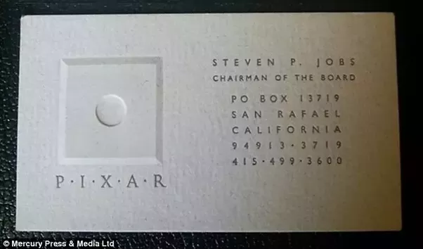 What font is used on steve jobs pixar business card quora it looks like gill sans printed letterpress light or possibly book weight hard to tell at this resolution and with the bleed of letterpress reheart Choice Image