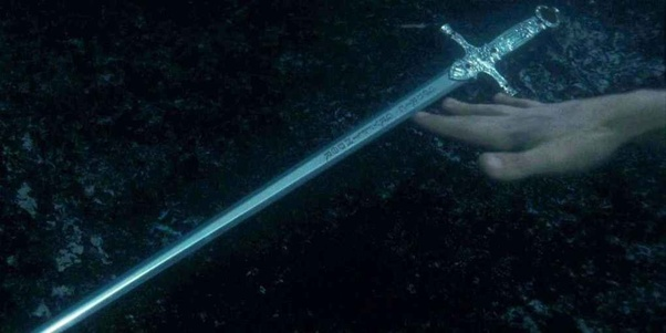 How did Ron come up with the Gryffindor sword after he left