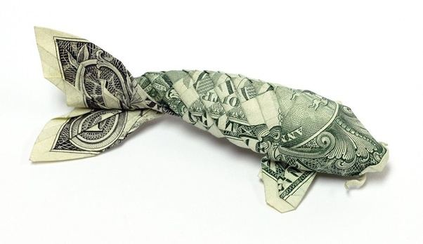 How to make an origami fish out of a dollar bill - Quora - photo#2