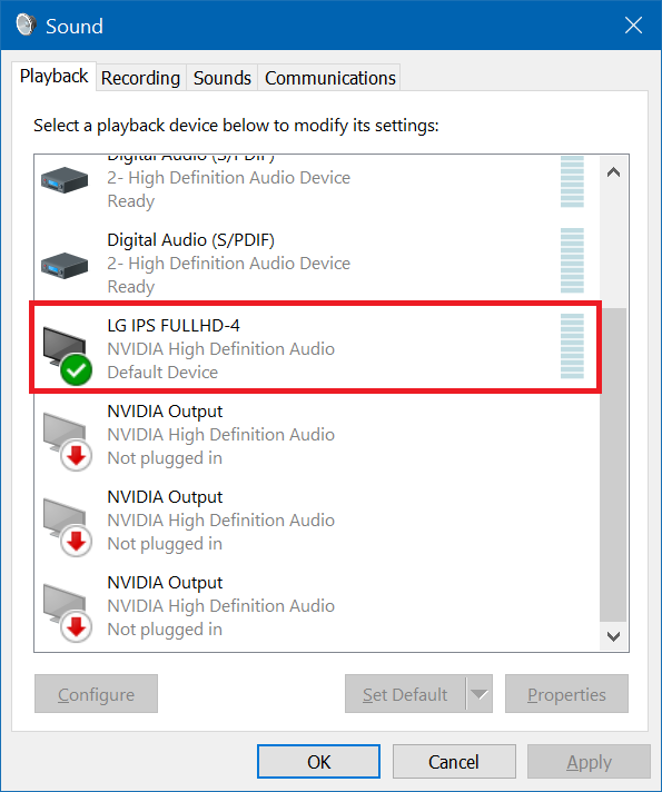 What is the audio coming through my graphics card HDMI? How does it