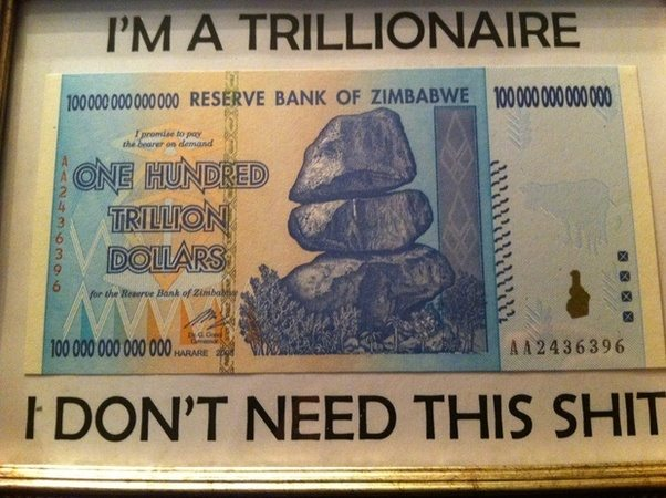 I Own 100 Trillion Zimbabwe Dollars Usd To Dollar New Wallpaper Hd Noeimage