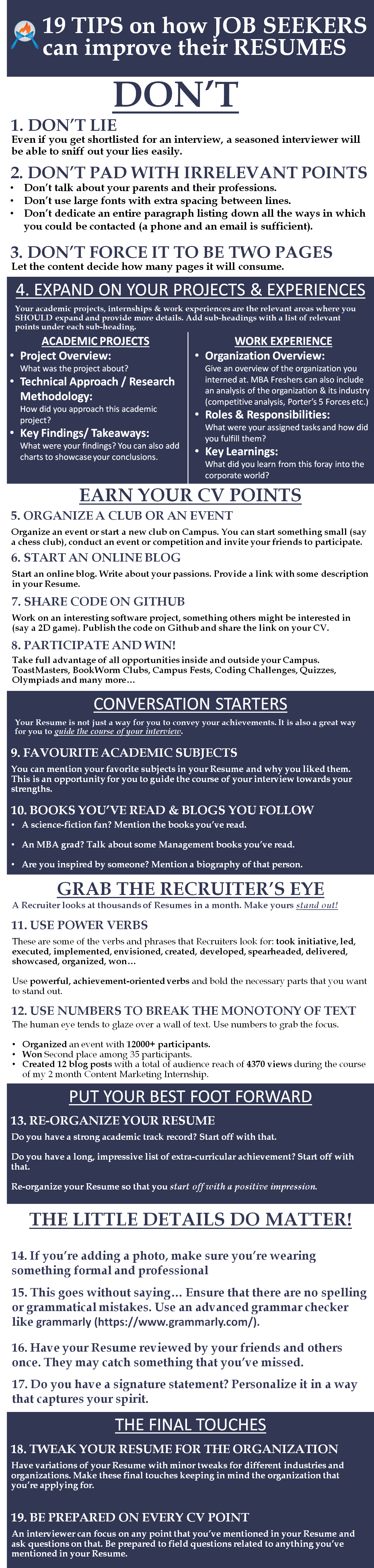 you can submit your cv for a free review the infographic below source could also be useful