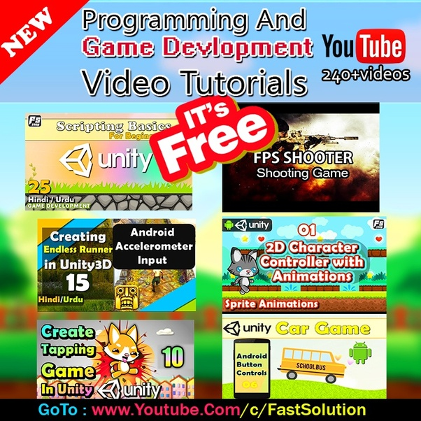 What is the best YouTube channel for learning Unity 3D game
