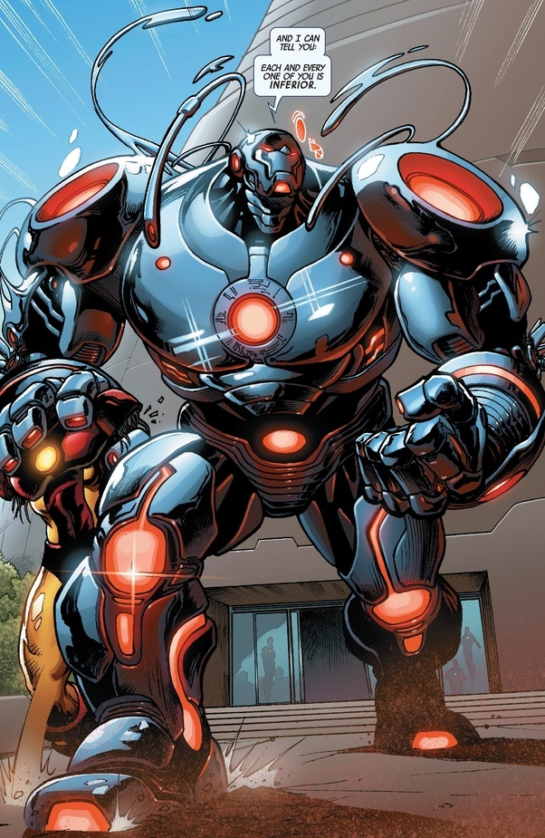 He can have extra building blocks added to make it the size and strength of a hulkbuster but with all the capabilities that it normally has ... & What is the best superhero suit? - Quora