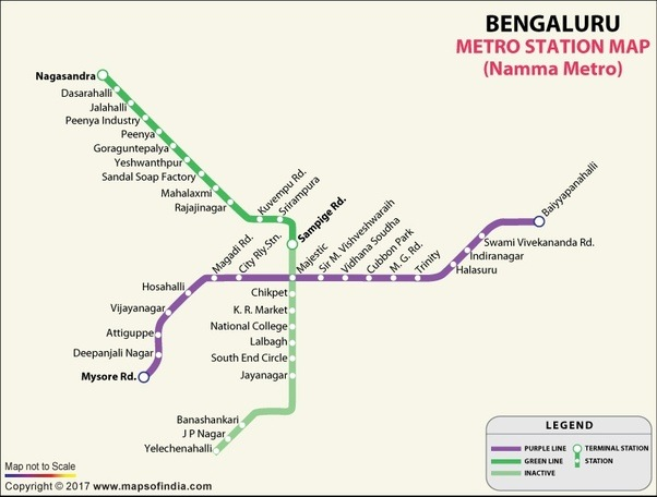 bangalore metro Amidst much fanfare, a little over a year after the phase i operations were inaugurated, the much-awaited six-car namma metro train was.