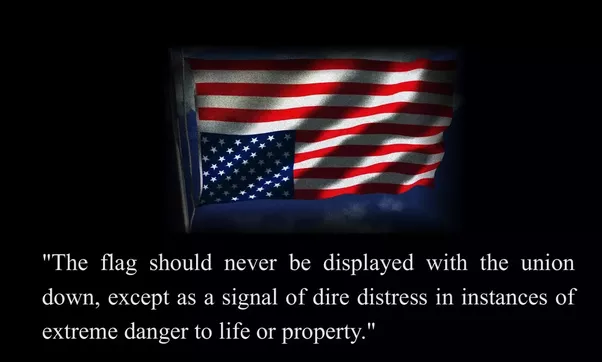 what would happen if a us flag with inverted colors was publicly