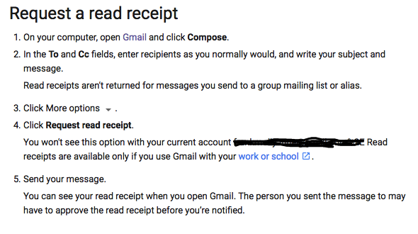 how to setup an automatic read receipt for my personal gmail so that