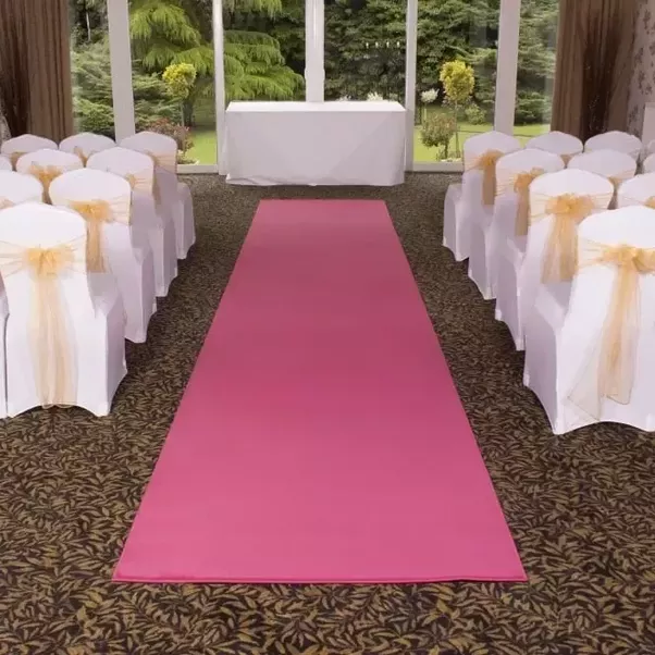 What are some good aisle decorations for wedding ceremonies quora for floorings carpets in different colours and textures and petals scattered down the aisle are common dcors for wedding ceremonies junglespirit Image collections