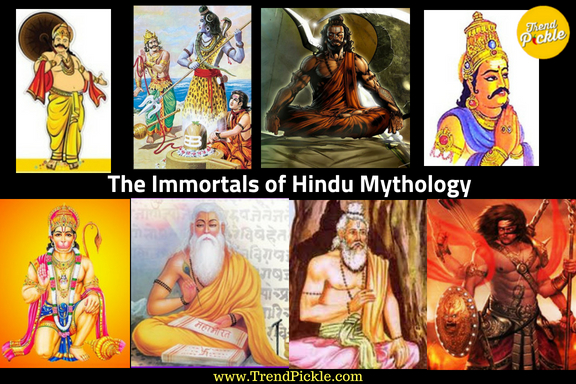 Who according to Hindu mythology are considered as immortals