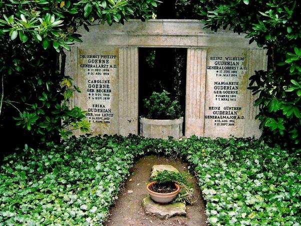 Heinz Guderian grave, Third Reich graves worldwartwo.filminspector.com