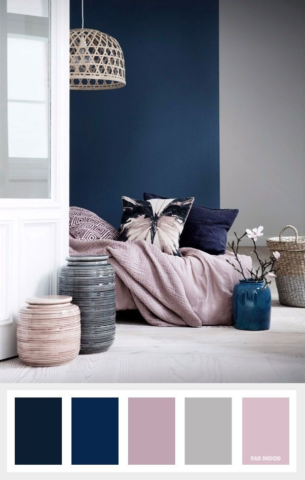 If It S A Strong Blue Color So With Grey And Light Pink Will Look Great Ii Saw An Example Of This On The Internet