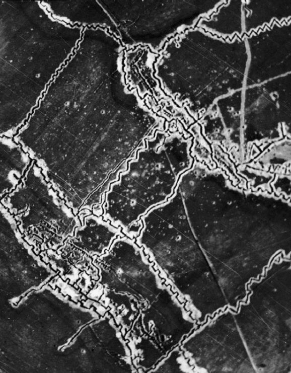 What caused the stalemate on the western front in WWI?