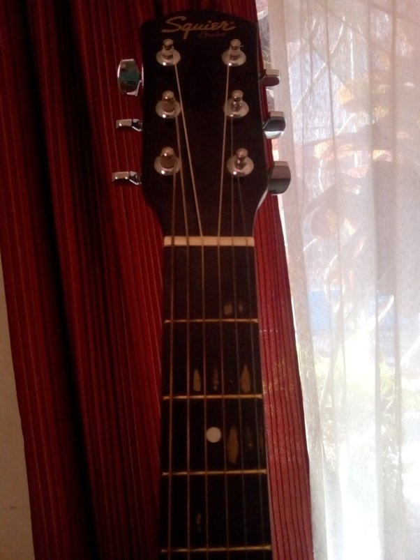 Why Did My Squier Guitar Fretboard Colour Peel Off At Chord