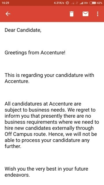 When can we expect the Accenture joining date for those who received