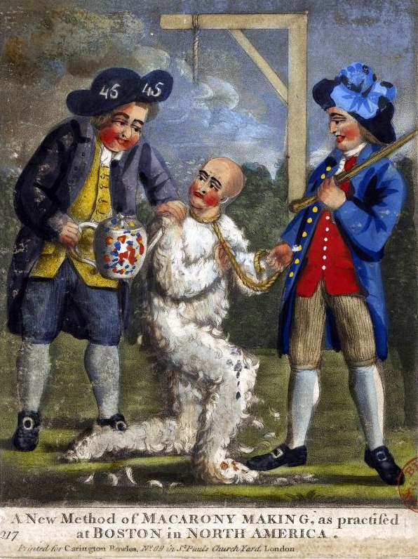 Were people really tarred and feathered? What was the purpose of that?