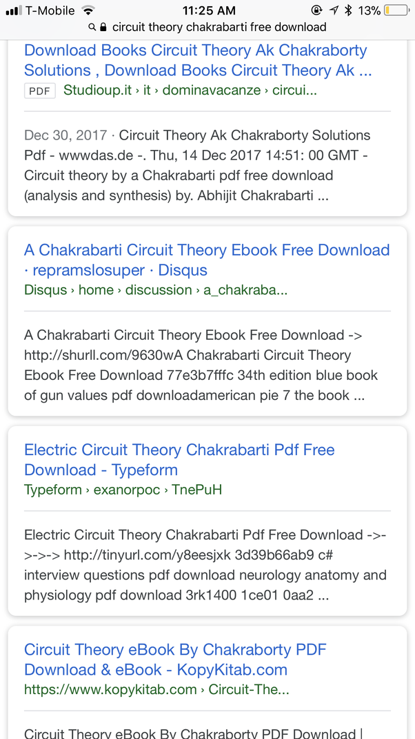 Where can I download Circuit Theory by a Chakrabarti PDF form? - Quora