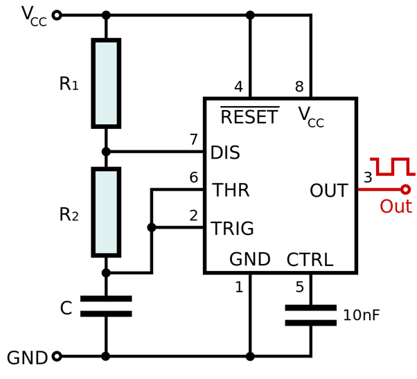 How to generate a waveform using a 555 timer IC - Quora