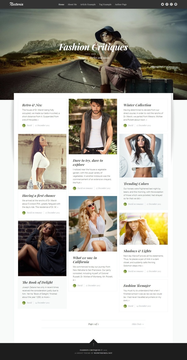 What is a free Wordpress theme with a good sticky header